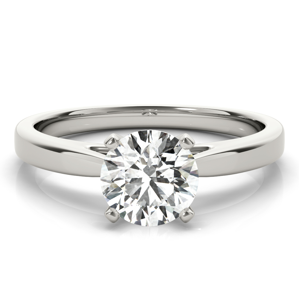 Classic Solitaire Cathedral Engagement Ring