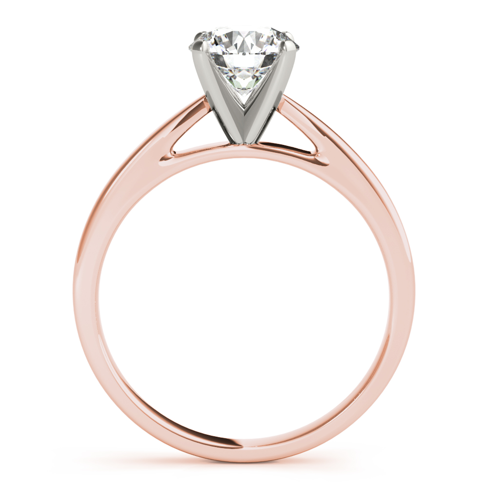 Classic Solitaire Cathedral Engagement Ring Rose Gold