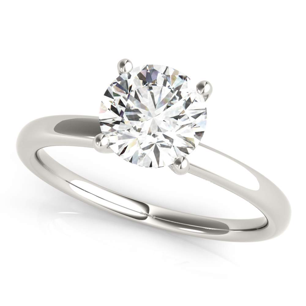 Hidden Halo Solitaire Engagement Ring