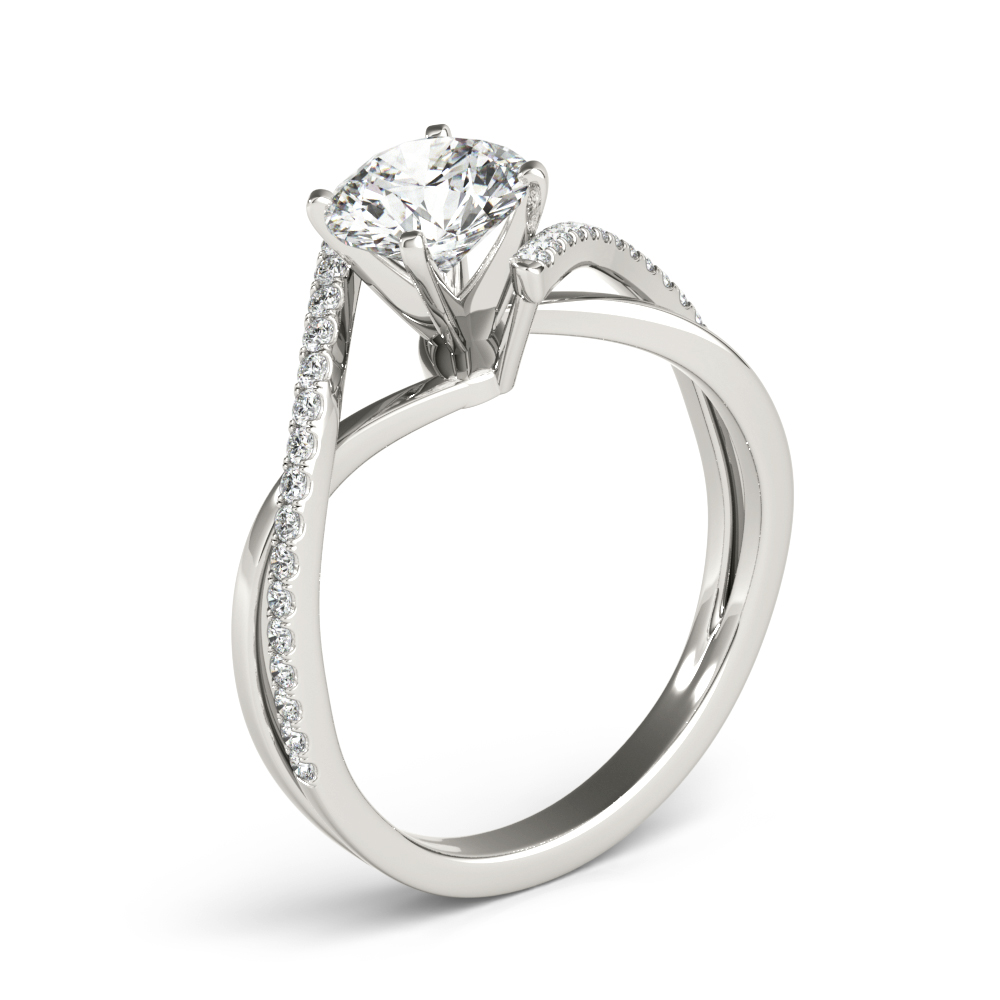 Swirl Intertwined Split Band Engagement Ring
