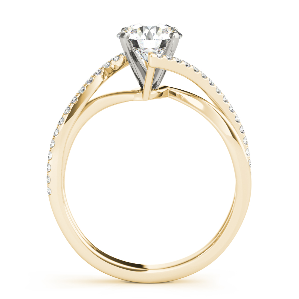 Swirl Intertwined Split Band Ring Yellow Gold