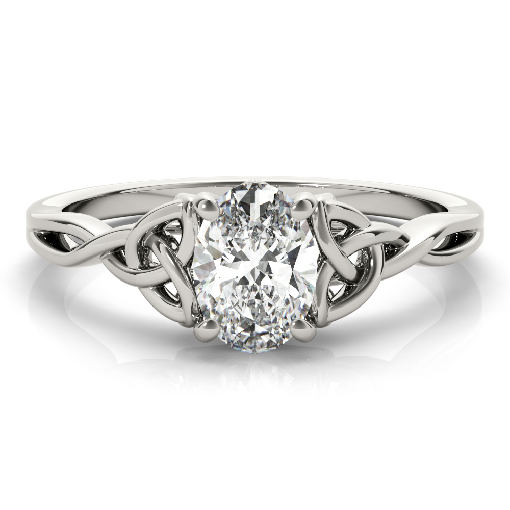 Oval Solitaire Celtic Engagement Ring