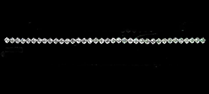 18.8 Carat Asscher cut diamond Bracelet G-H VS Royal
