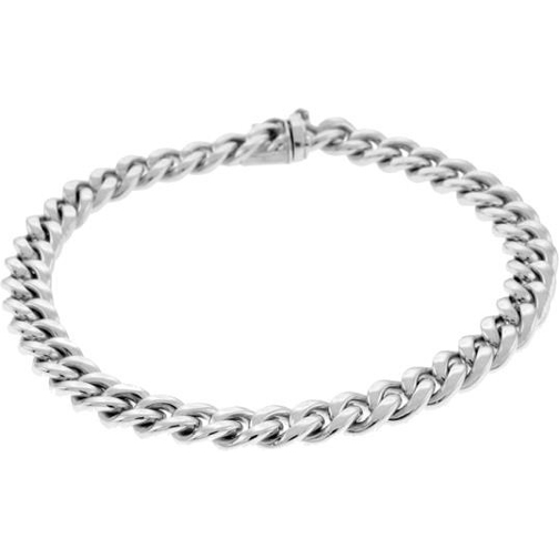 8.5 Inch 950 Platinum Cuban Curb Chain Bracelet, 8.2 mm wide