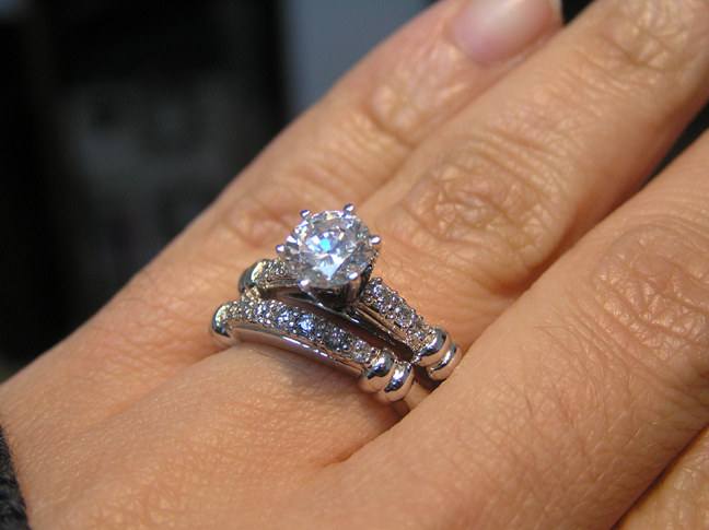 Engagement Ring Six Stone Diamond Engagement Ring
