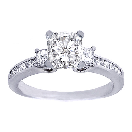 stone princess cut diamond engagement ring