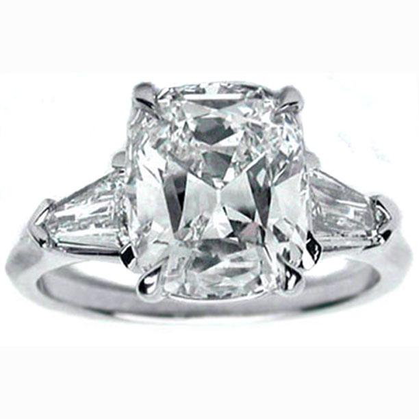 Tapered Baguette Engagement Ring Like Nicolette Sheridan 0