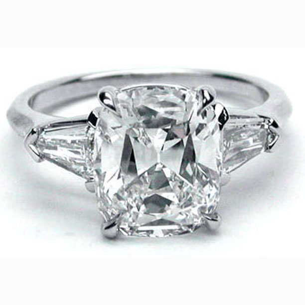 Engagement Ring Tapered Baguette Bullet Engagement Ring like