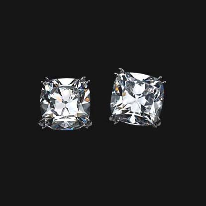 Cushion Diamond Stud Earrings 0.40 tcw.