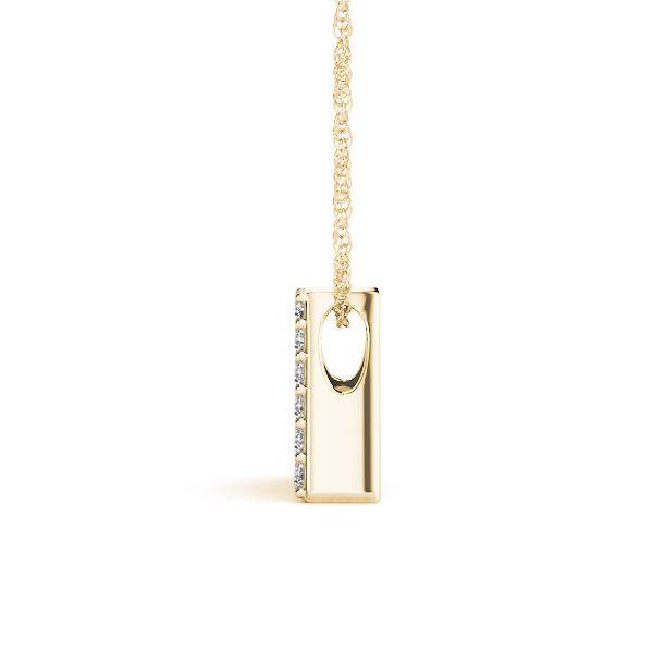 Diamond Initial A Pendant Yellow Gold