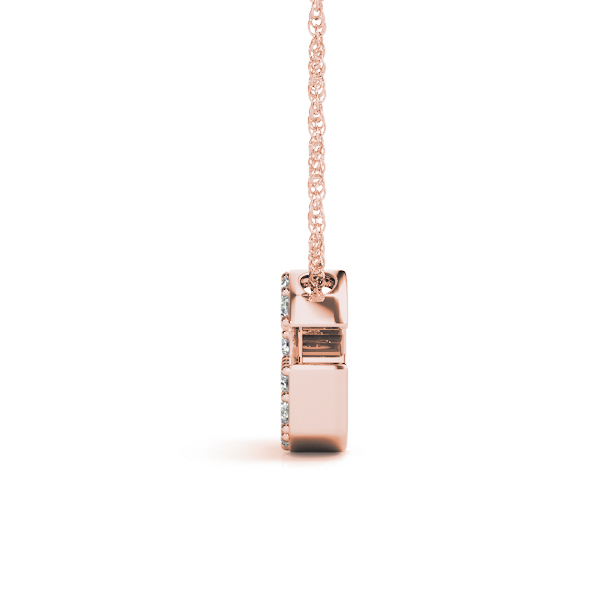 Diamond Letter G Pendant Rose Gold