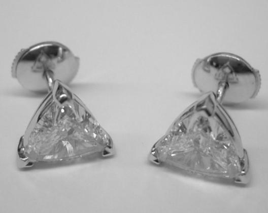 diamond lev earrings trillion img stud jewelry zoe