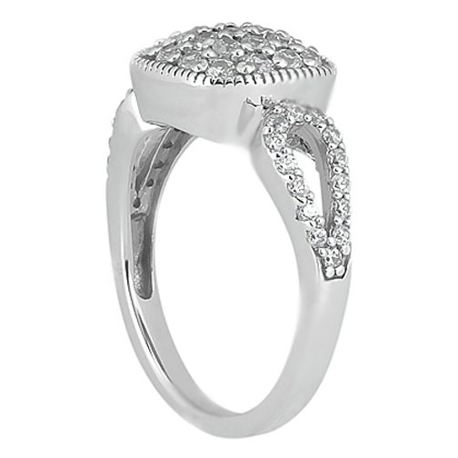 Round Diamond Vintage Style Split Band Ring 0.70 Carat tw