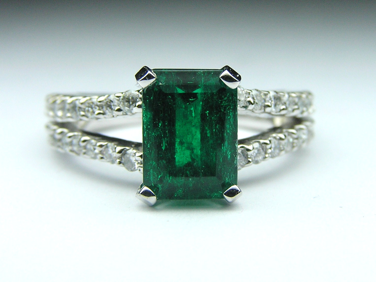 emerald green diamond white rings ring evermarker products