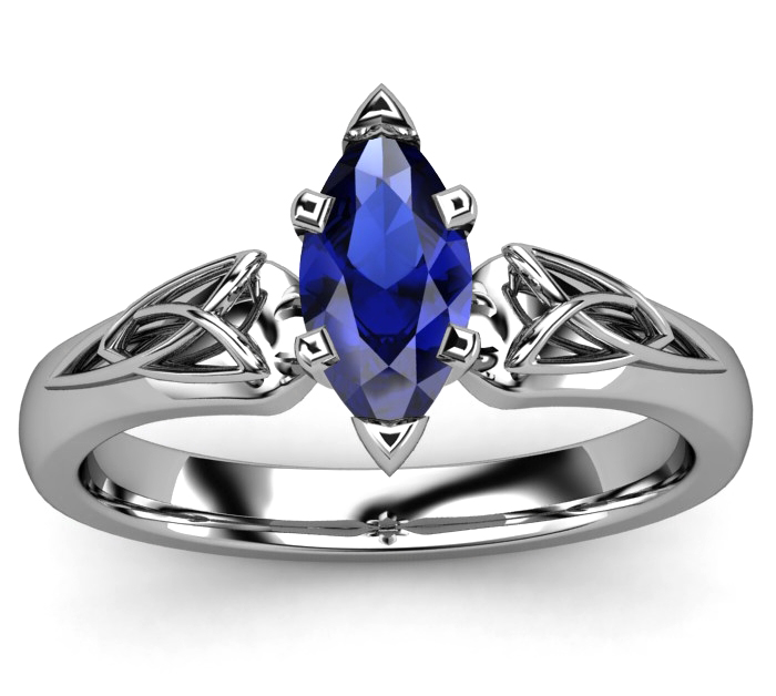 blue sapphire European Engagement Rings from MDC Diamonds NYC