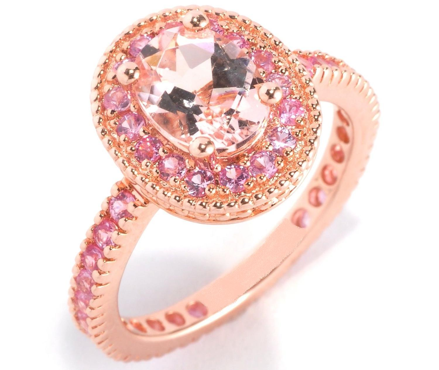 Rose gold ring pink morganite rose gold ring