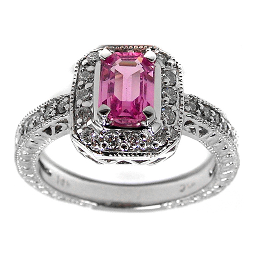 pink sapphire european engagement rings from mdc