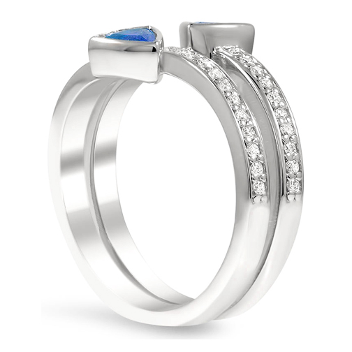 Trillion Duo Spiral Fashion Ring