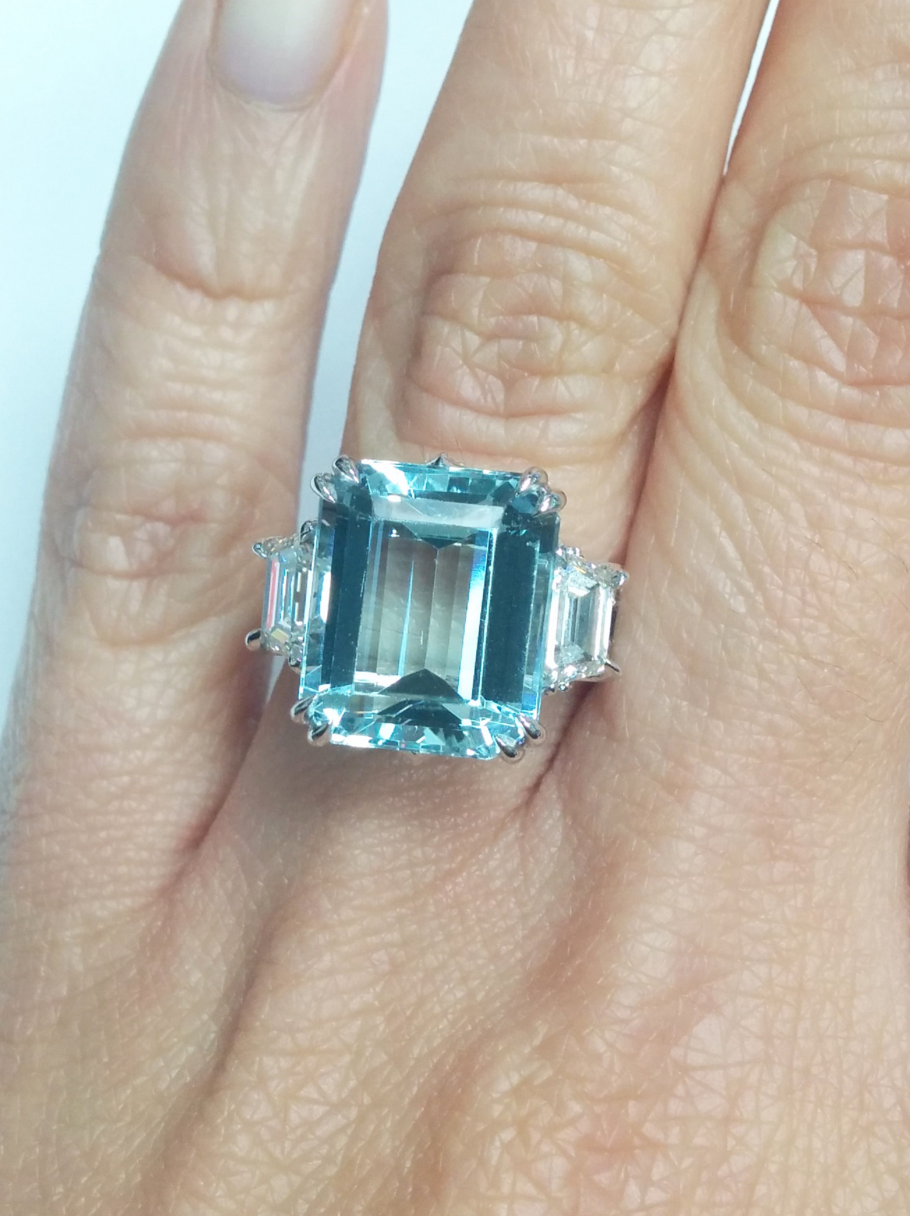 european engagement ring 730 ctw large emerald cut