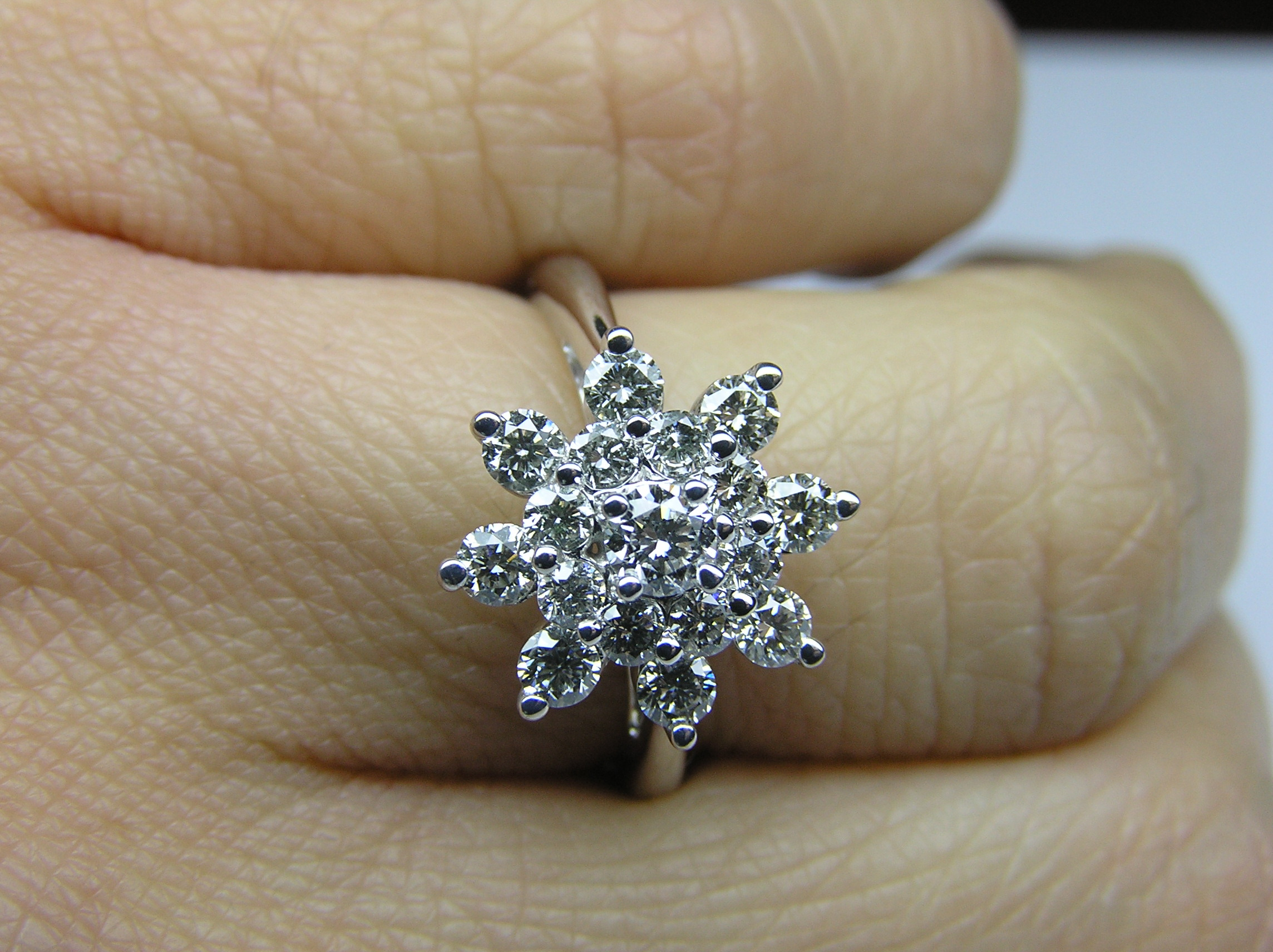queue strand stone flower side engagement and rings products pave style ring diamond