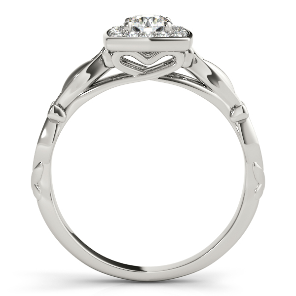 Round Diamond Square Halo Ring