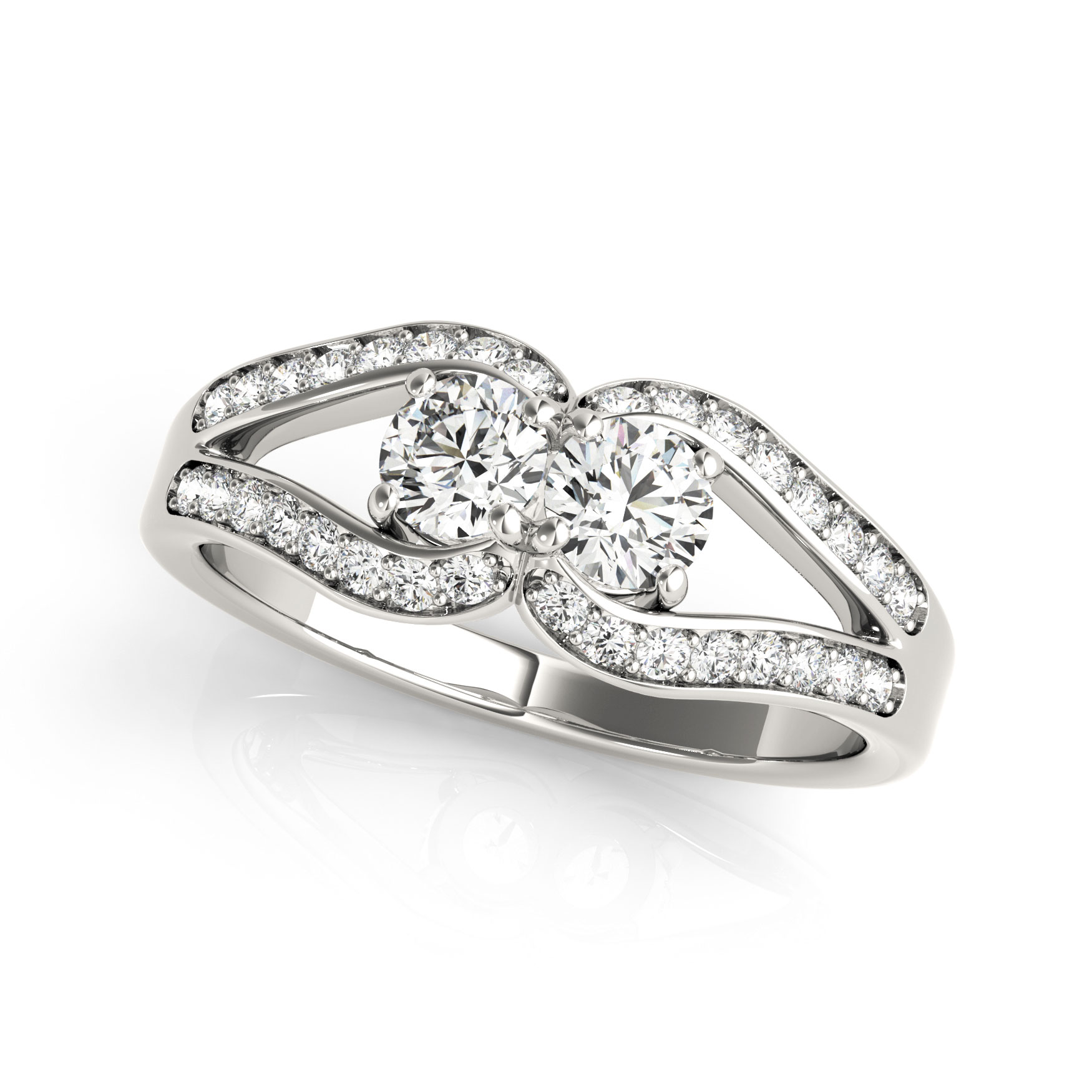 an trellis pave solitaire round ring in open prong cathedral cut enr old rings engagement four yellow gold european