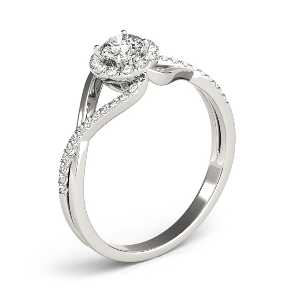 Infinity Swirl Halo Diamond Ring 0.41 tcw.
