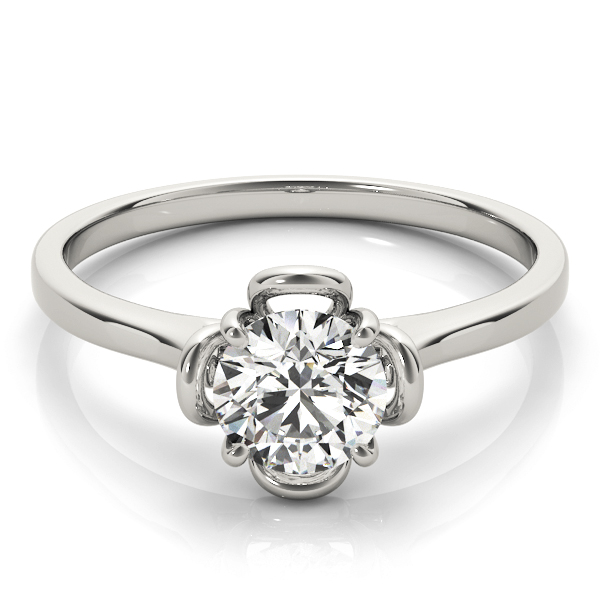 Solitaire Floral Promise Ring 0.33 Carat.