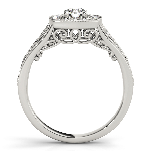 Vintage Style Halo Diamond Promise Ring 0.27 tcw.