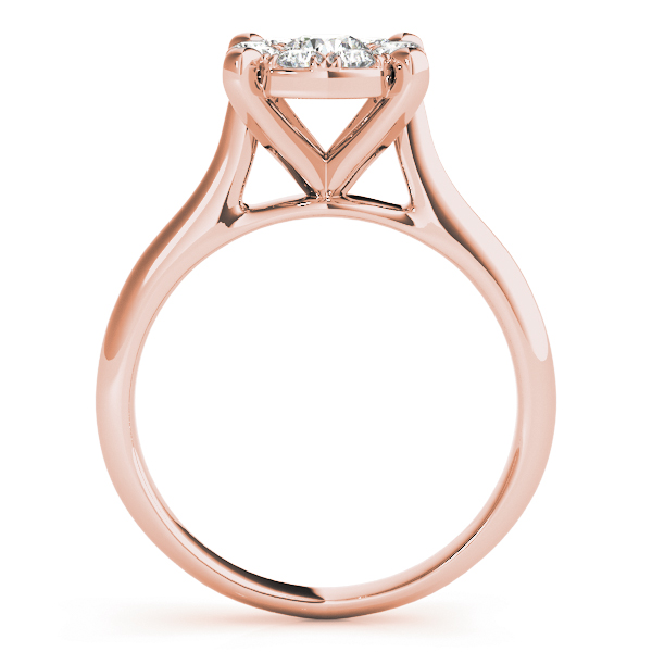 Diamond Halo Cathedral Cluster Ring in Rose Gold