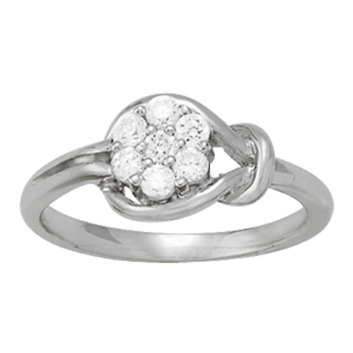 Flower Cluster Love Knot Ring