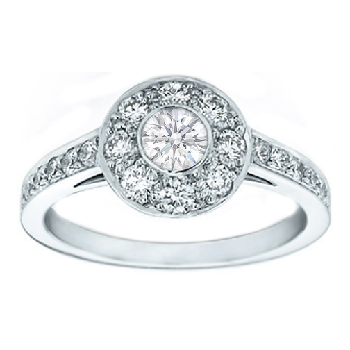 Round Diamond Circlet Engagement Ring
