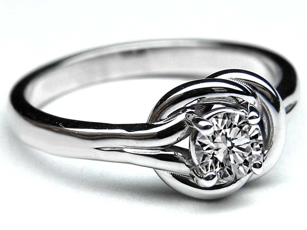 silver love knot engagement diamond ring size sterling rings simulated silvercloseout products