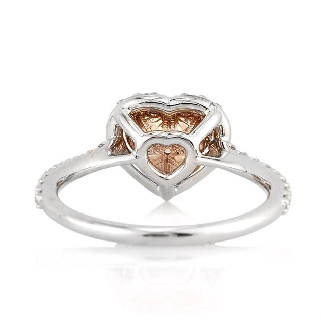 Heart Chocolate Diamond Halo Ring