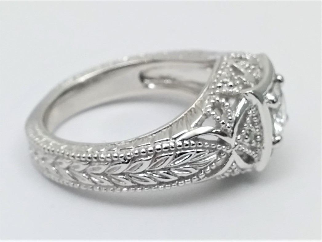 1/2 Carat Vintage Style Filigree Engagement Ring
