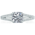Split Band Trellis Engagement Ring In Platinum