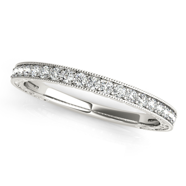 Vintage Design Pave Round Diamond Wedding Band Matching ES108