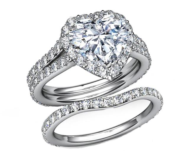 Heart Wedding Bands 5 Best Heart shaped halo engagement