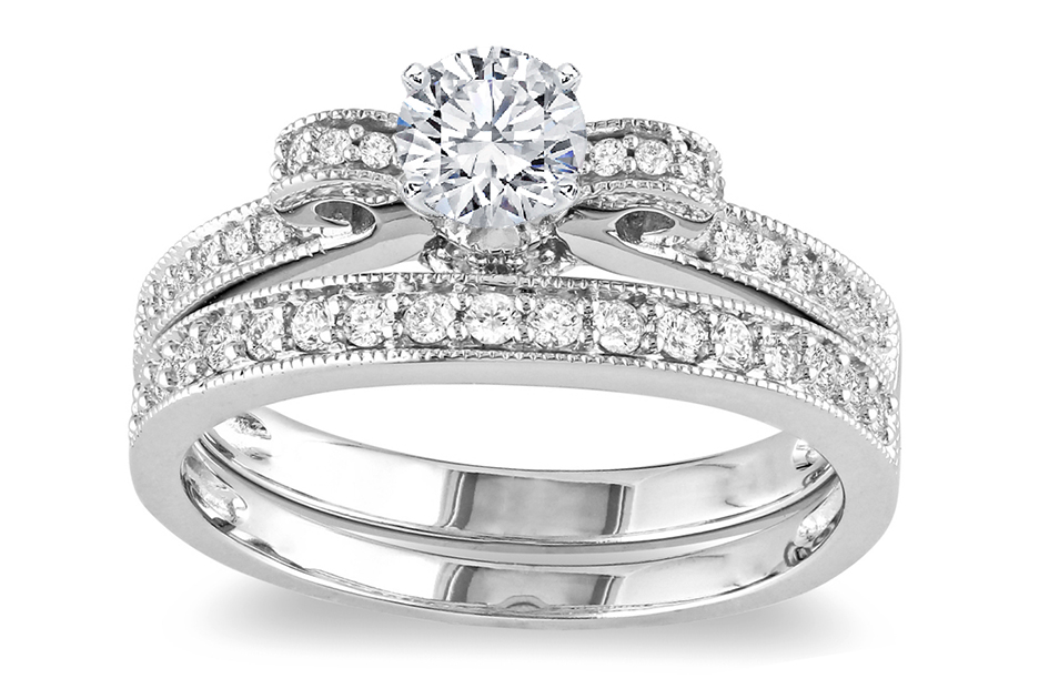 Engagement Ring & Matching Wedding Ring Bridal Set