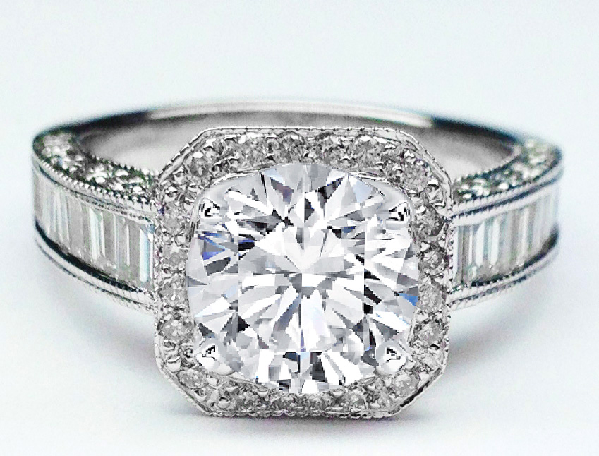 wedding rings collection diamond tapered engagement diamonds sylvie ring with baguette