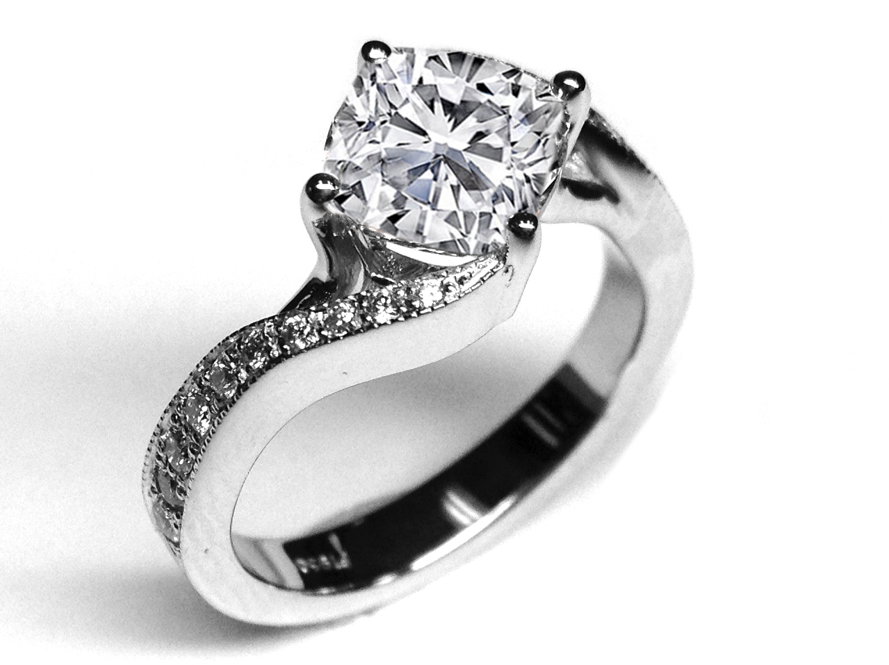 diamond and channel swirl wedding band shadow fotor set round ring style bands solitaire rings bypass shop engagement