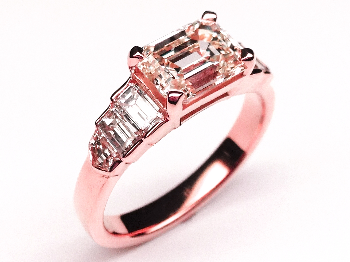 rings jewelry women engagement promise pink similated sterling platinum diamond ring fine cz products plated cubic in zirconia heart jewellery silver