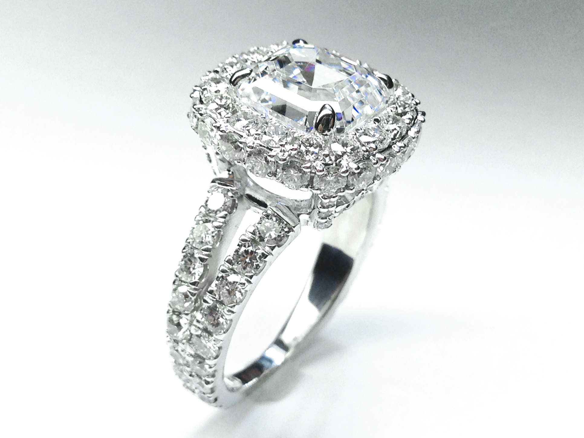 Diamond Initials Engagement Ring