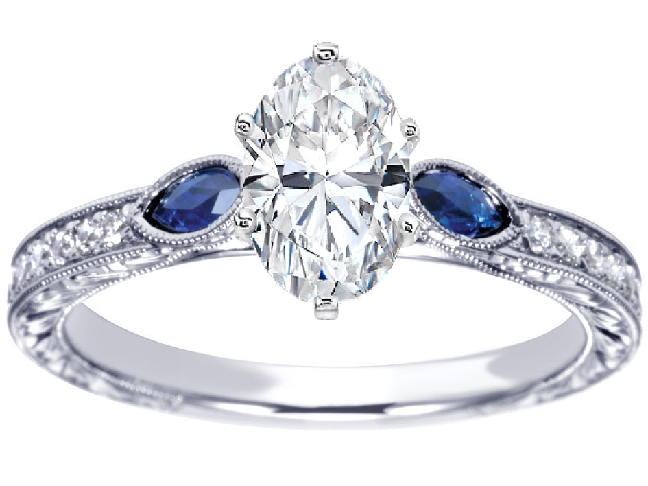 Sapphire Engagement Rings and Wedding Bands