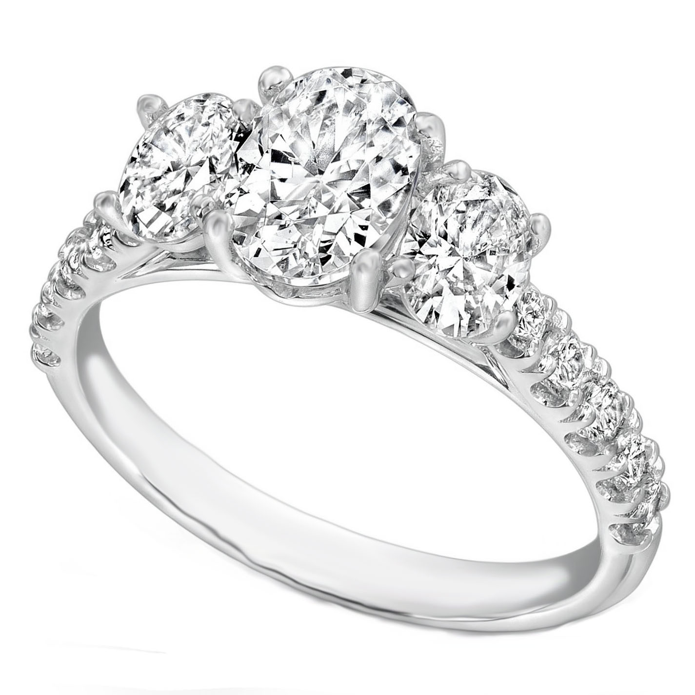 Three Stone Engagement Rings from MDC Diamonds NYC