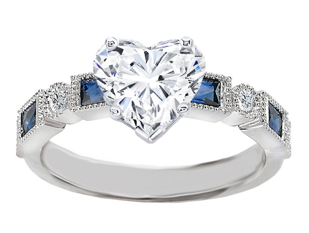 engagement ring heart shape diamond engagement ring blue. Black Bedroom Furniture Sets. Home Design Ideas