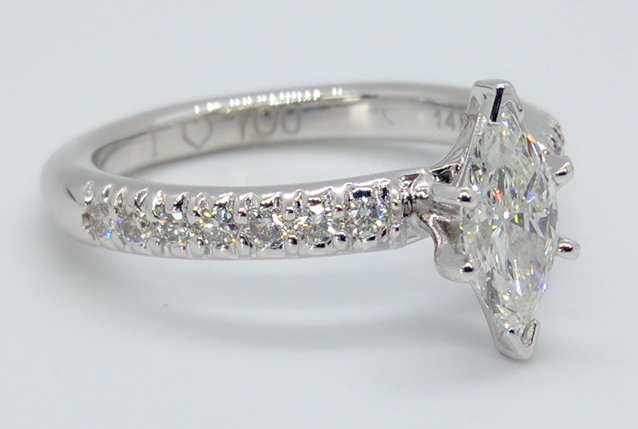 Marquise Classic Solitaire Diamond Engagement Ring