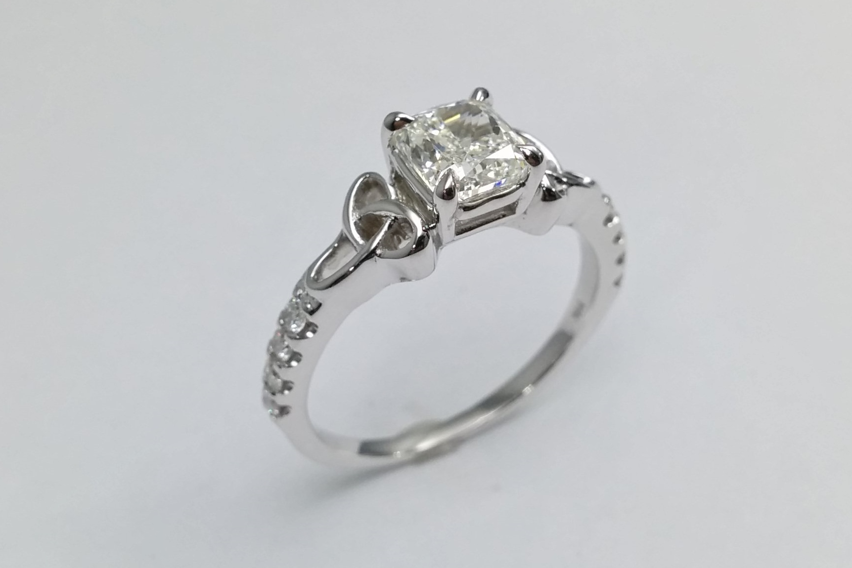 plated rhodium double ring xl knot pretty ave cz product pave diamond