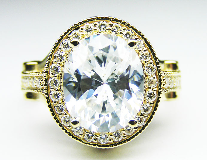 Oval Diamond Legacy Style Engagement Ring 0.80 tcw. In 14K Yellow Gold