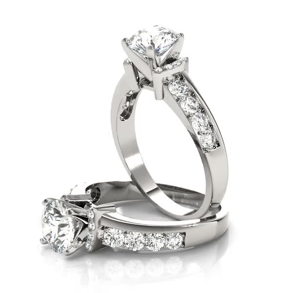 Diamond Collar Engagement Ring